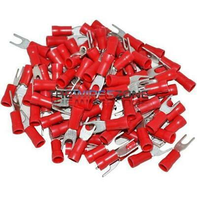 The Install Bay by Metra 18-22 Gauge #6 Red Spade Terminals 100 Pack RVST6