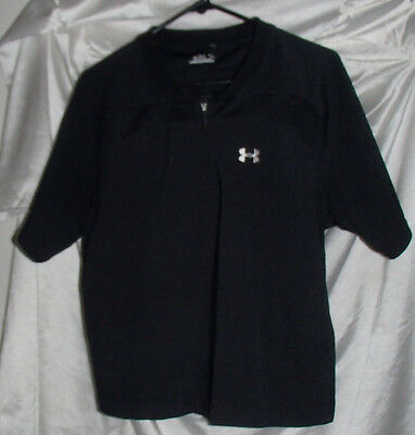 Under Armour Black Short Sleeve Warmup Baseball Jersey Youth Size Large