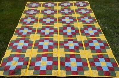 "Exceptional Antique!  Block 25 Patch Quilt - Variation of the ""Album"" Pattern"