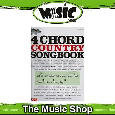 New Strum & Sing '4 Chord Country Songbook' Guitar Music Book - Chords & Lyrics