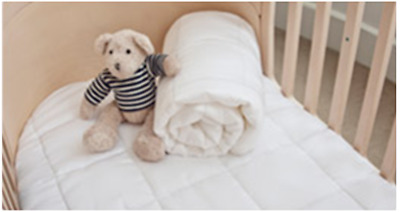 76cm x 135cm DryLife Baby Cot Mattress Topper; 300gsm; Breathable; Hypoallergeni