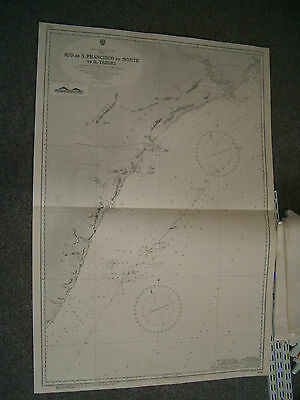 Vintage Admiralty Chart 3286 BRAZIL - EAST COAST 1916 edition