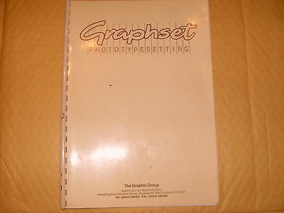 Graphset - Photo Type Setting - The Graphic Group - As Photo