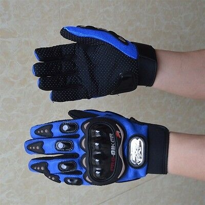 New Cycling Motorbike Bicycle Bike Riding Gloves Full Finger Size M-XL Blue