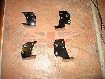 New Set of Door Cap Cappings Mounting Brackets MGB Roadster 1965-80