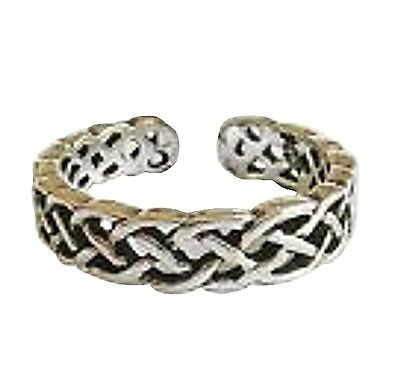 Sterling Silver (925) Adjustable Celtic Band Toe Ring !!    Brand New !!