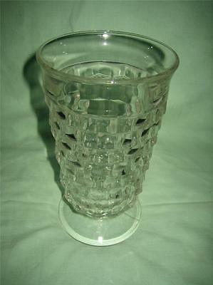 VINTAGE FOSTORIA CLEAR FOOTED WATER GLASS