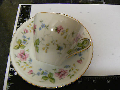 BEAUTIFULL WINTERLING MARKTLEUTHEN BAVARIA FLORAL PINK  ROSES CHINTZ CUP SAUCER