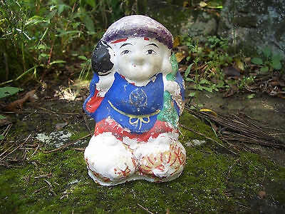 Japan antique clay doll Daikokuten God of Wealth 7 Deities of Good Fortune #8233