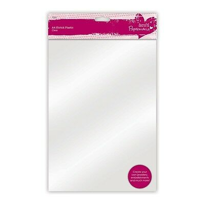 Papermania Oven Bake A4 Clear Shrink Plastic Sheets Craft Project Material - New
