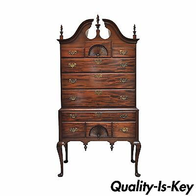 Vintage Chippendale Style Mahogany Marlboro Manor Sacks Sons Highboy Dresser