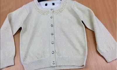 Baby girls gold knit party cardigan ex M&S 3 6 9 12 18 months 2 3 4 5 years NEW