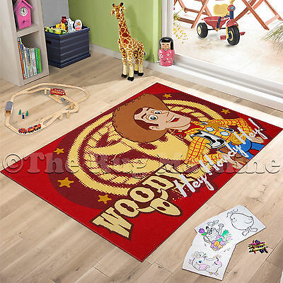 TOY STORY WOODY KIDS FUN PLAY RUG 100x150cm NON-SLIP & WASHABLE **NEW**