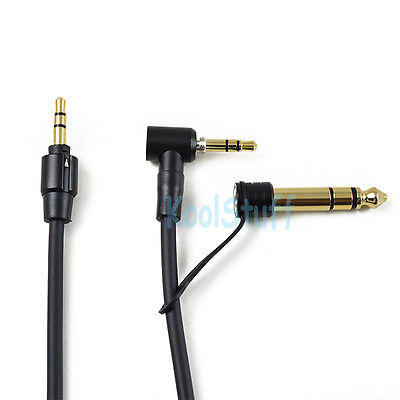 Black Audio Replacement 3.5mm with 6.5mm Cable for beats by Dr. Dre headphones