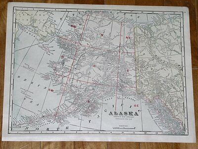 1917 MAP OF ALASKA / GENERAL MAP OF UNITED STATES ON REVERSE SIDE