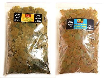 PREMIUM QUALITY FISH FOOD - TROPICAL or GOLDFISH FLAKES - 100g 200g 400g or 1kg