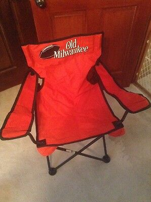 RARE OLD MILWAUKEE FOLDING CHAIR NASCAR PORTABLE TAILGATE BEACH RACING TRAVEL