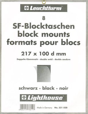 Pack of 8 Black Lighthouse SF-Mounts 217mm wide by 100mm high.