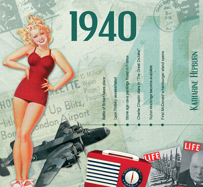 1940 The Classic Years 20 Track CD Greetings Card