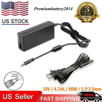 AC Power Adapter Charger for Toshiba Asus Lenovo Laptop 19V 4.74A 5.5*2.5mm 90W