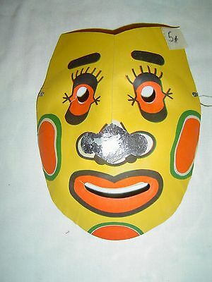 Vintage DEVIL Molded Paper Halloween Mask #27 - OLD STORE STOCK - 5 Cents Unused