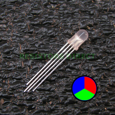 20pcs RGB LED Diffused Lens 5mm Common Cathode 4-Pin Red Green Blue USA 20x V28