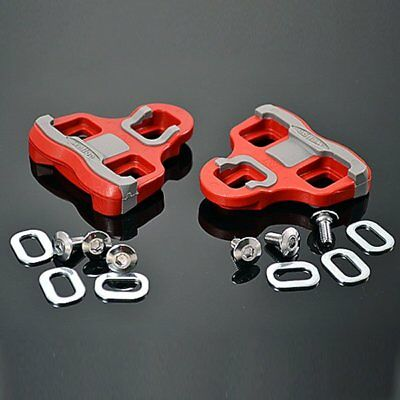 New Wellgo RC-7B Road Bike Pedal Cleats 6 Degree Float Look Keo Compatible Red