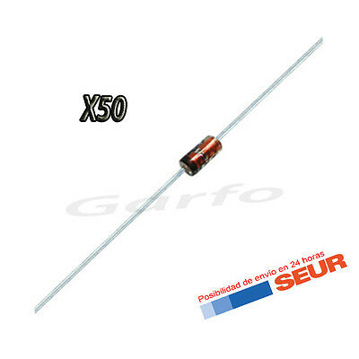 50X Diodo Zener 5V1 5,1V 500mW 0,5W DO-35