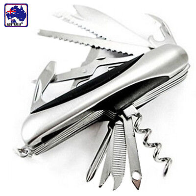 Stainless Multi Tool Army Knife Pocket Knife Foldable 11 Function OKNIF1101