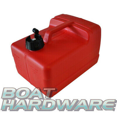 Portable Petrol Fuel TANK w/ vented cap Plastic 11.4 Litre Outboard Engine
