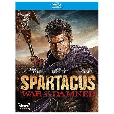 Spartacus: War of the Damned (Blu-ray Disc 3-Disc Set) Brand New Free Shipping