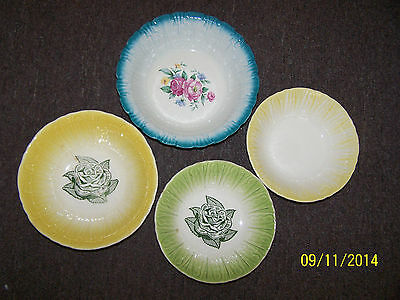 Vintage Homer Laughlin Serving Bowl and Three Unmarked Bowls