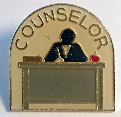 """COUNSELOR"" Enamel Lapel Pins/Wholesale Lot of 5/All New!"