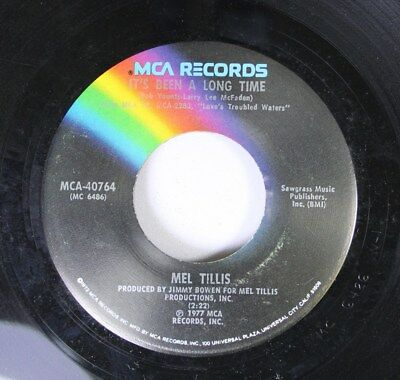 Country 45 Mel Tillis - It'S Been A Long Time / I Got The Hoss On Mca Records