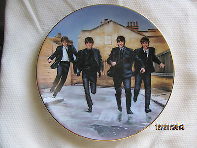 """Bradford Exchange 1991 The Beatles """"A Hard Day's Night"""" Collector Plate # 11287A"""