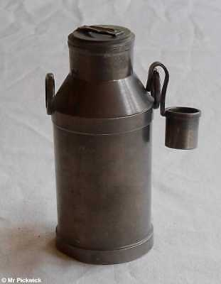 Pewter Milk Churn Pale Miniature with Ladle Cream Dairy Farming Agriculture