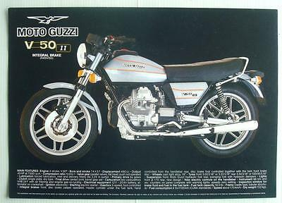 MOTO GUZZI V50 II Motorcycle Specification Sheet