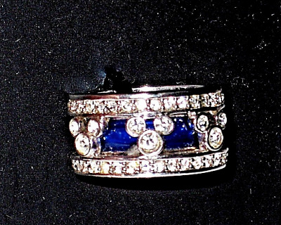 Arribas Bros✿Mickey Mouse Crystal Ring✿Bridal Set Band✿Disney Authentic✿Size 5