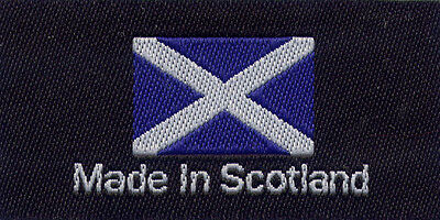 Woven Garment Labels Made in The Scotland 25mm x 50mm, Pack of 10