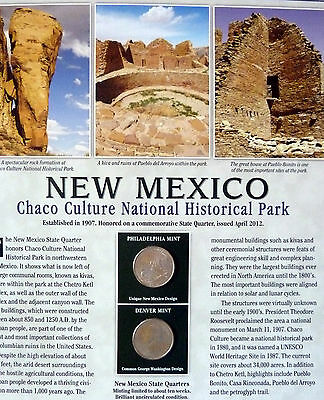 Chaco Culture  National Park America the Beautiful State Quarters & Stamps