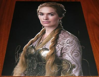 Lena Headey Signed 11x14 Game of Thrones w/Quote Power is Power Exact Proof
