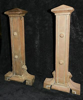Mission, Arts & Crafts Andirons - Rare, Large, Heavy, Unique!