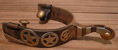 Pair of Spurs w/Three Texas Stars & Silver Accent-Spurs To Wear or Western Decor