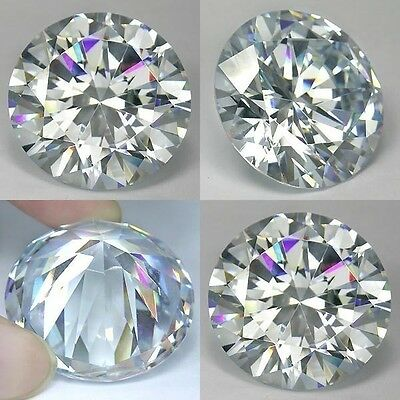 IF 20 cts Huge  Round (15 mm)   Lab  Clear White Diamond  AAA K45