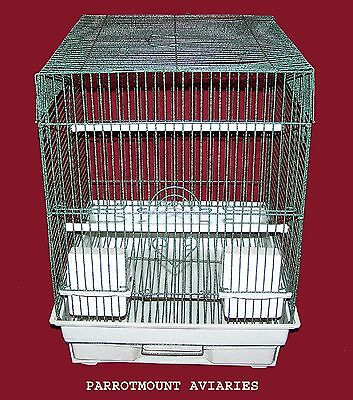 FLAT TOP BIRD CAGE FOR COCKATIELS, PARAKEETS, FINCHES, & SIMILAR BIRDS 14x16x19