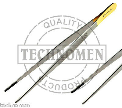 "5.75"" 14.5cm TC TUNGSTEN CARBIDE DRESSING DISSECTING SURGICAL FORCEPS TWEEZERS"