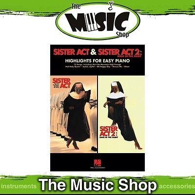 New Sister Act 1 & 2 Movie Selections Music Book for Easy Piano