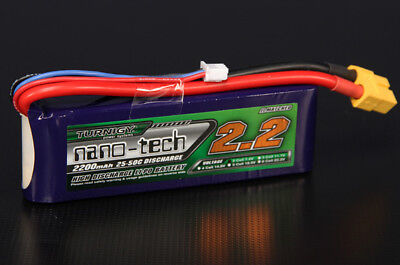 RC Turnigy nano-tech 2200mah 2S 25~50C Lipo Pack