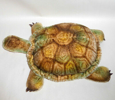 Vintage 1960's Steiff Germany Yellow Green Mohair ~ Slo Turtle
