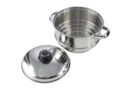 Pendeford Stainless Steel Collection Stainless Steel Cooking Steamer Pan 20 cm